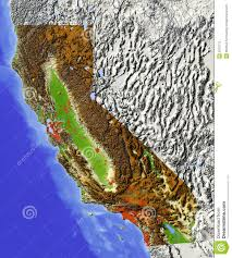 California Zip Code Map by California Relief Map California Map