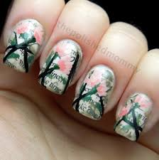 easy nails art design using a toothpick simple flower nail art