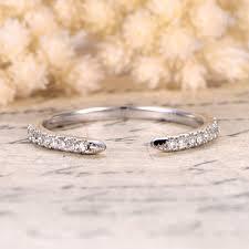 open wedding band ctw cut diamond wedding band 14k white gold half eternity