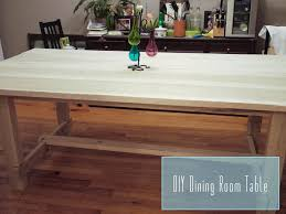Easy Dining Room Table  DIY Dining Table Ideas Build Your Own - Making dining room table