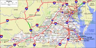 map of virginia and carolina virginia map