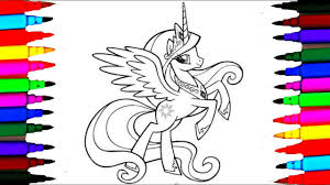 how to draw my little pony princess cadance coloring pages colours