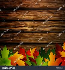 wooden leaves wall wooden wall autumn leaves stock vector 474611962