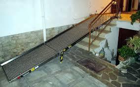 pedana per disabili ra girevole in alluminio per il superamento di barriere
