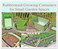 rubbermaid growing containers for small garden spaces the
