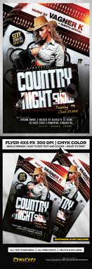 template flyer country free country night show flyer template psd flyer template template