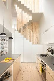 Back Stairs Design Contemporary Stair Design Continuous Metal Stairs With A