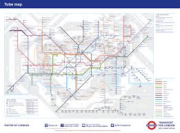 At T Service Map Tube Transport For London