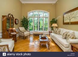 living room interior of middle class american home in kentucky usa