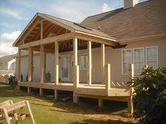 covered deck design ideas gabled roof open porch covered