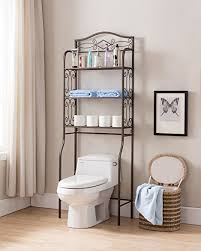 over the toilet etagere amazon com pewter metal 3 tier over the toilet storage etagere