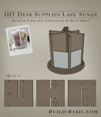 Diy Desk Plans Free by Build This Easy Diy Desk Supplies Lazy Susan For Under 20 Free