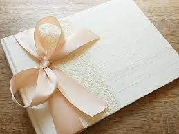 ivory wedding guest book blush and ivory wedding guest book www etsy shop