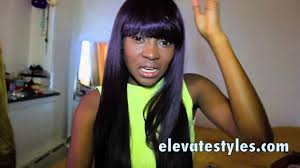 21 tress human hair blend lace front wig hl angel 21 tress h uba wig 99j elevate styles youtube channel youtube