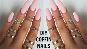 diy professional coffin nails 6 easy long lasting nails at home