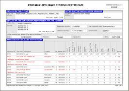 megger test report template easypat portable appliance testing software