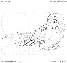 clipart graphic of a cartoon black and white cute pet budgie