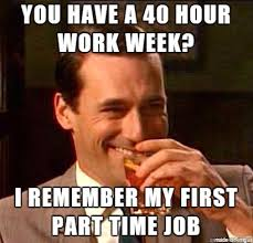Meme Not Impressed - don draper is not impressed with your 40 hour work week meme on