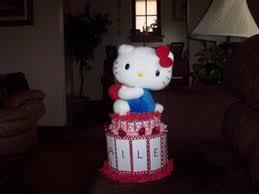 Hello Kitty Candy Bar Cake