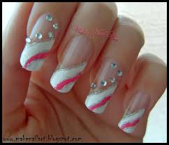 make nail art white and pink prom nails nail art tutorial