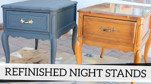 How To Repaint Wood Furniture by Refinished Nightstands With Annie Sloan Chalk Paint Youtube