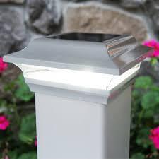 imperial 4x4 metal led solar post cap light
