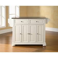 stainless steel topped kitchen islands crosley alexandria stainless steel top kitchen island white