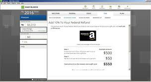 gift card software h r block tax software deluxe 2016 refund bonus