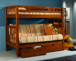 Wood Futon Bunk Bed How To Mount A Wood Bunk Bed With Futon Bed Design Ideas