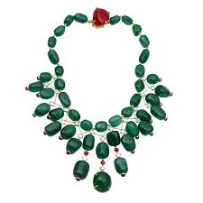 ruby bead necklace images Magnificent indian maharajah style emerald ruby bead necklace jpg
