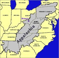 appalachian mountains on map map of appalachia my
