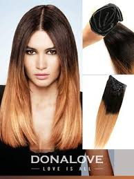 remy clip in hair extensions two colors ombre indian remy clip in hair extensions od001