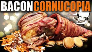 thanksgiving bacon bacon cornucopia epic meal time youtube