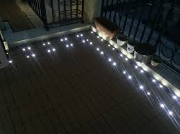 decking with led light inside garden grey decking with light