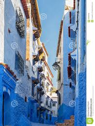 The Blue City Morocco by Typical White And Blue Buildings In The City Chefchaouen Morocco