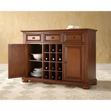 cherry wood dining room storage buffet cabinet sideboard with wine retail price 699 00