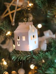 diy paper house ornament lia griffith