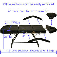 stationary adjustable client bed tattoo package with all purpose