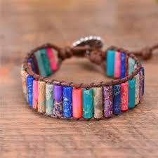 beaded wrap bracelet images Boho tube shape natural stone beaded wrap bracelet zenshopworld jpg