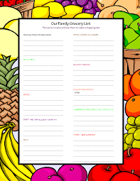 Shopping Worksheets Ages 10 Kids Eat Great Recipes
