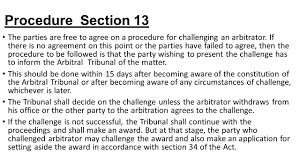 Challenge Procedure Arbitration And Conciliation Act Ppt