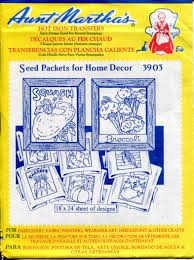 kk home decor seed packets for home decor hand embroidery tracing transfers