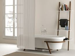 clawfoot tub bathroom design white acrylic clawfoor tub with brown wooden based frame combined