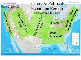 Map With Labels Economic U0026 Geographical Regions