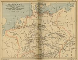 Map Og Germany by Of Germany 1619 1629