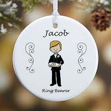personalized ornaments wedding personalized wedding party christmas ornament 1 sided