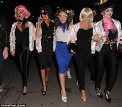 Pink Lady Halloween Costume Michelle Keegan Mark Wright Dress Kenickie Rizzo