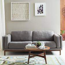 Cb2 Sofa Upholstered Grey Sofa