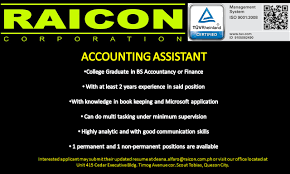 Accounting Assistant Job Description Resume by Accounting Assistant Job Hiring Quezon City Pinoyjobs Ph