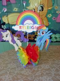 my pony centerpieces my pony rainbow party rainbow dash pony and rainbows